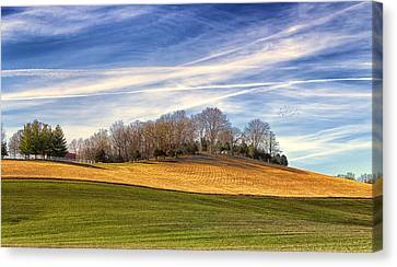 Waves Of Earth And Sky Canvas Print by Bill Tiepelman