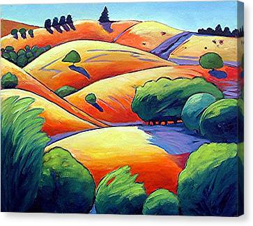 Waves Of Hills Canvas Print by Gary Coleman