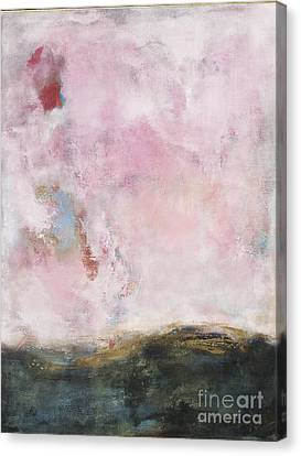 Waves Of Pink Abstract Art Canvas Print by Anahi DeCanio
