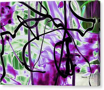 Waves Of Purple Canvas Print