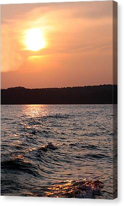 Waves On Greers Ferry Lake Canvas Print by Kenna Westerman