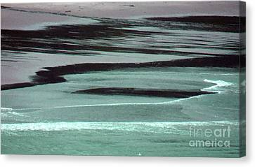 Waves On The Beach Canvas Print by Methune Hively