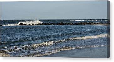 Canvas Print featuring the photograph Waves by Sandy Keeton