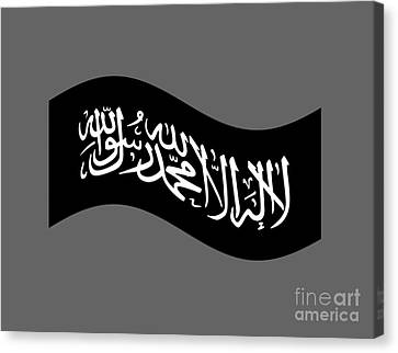 Waving Jihad Flag Canvas Print by Frederick Holiday