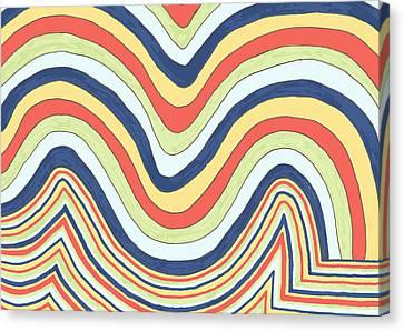 Canvas Print featuring the drawing Waving by Jill Lenzmeier