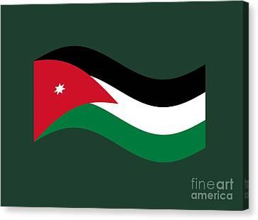 Jordan Canvas Print - Waving Jordan Flag by Frederick Holiday