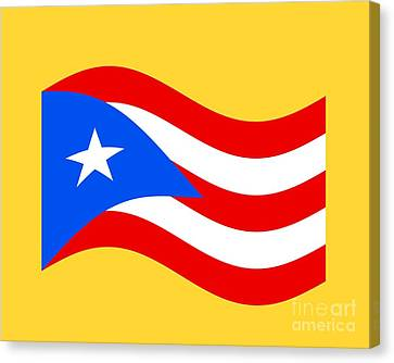 Waving Puerto Rico Flag Canvas Print