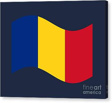Waving Romania Flag Canvas Print by Frederick Holiday