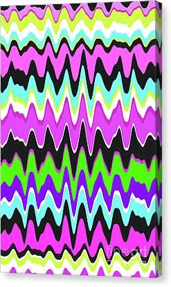 Wavy Canvas Print - Wavy Stripe by Louisa Knight
