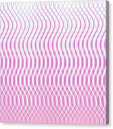 Wavy Stripes Canvas Print by Gina Lee Manley