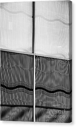 Wavy Canvas Print - Wavy Wall Reflection by Tim Gainey