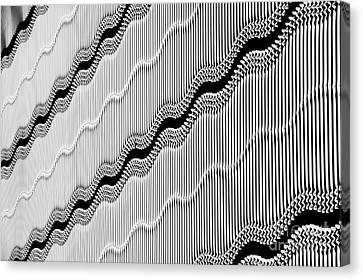 Wavy Canvas Print - Wavy Wall by Tim Gainey