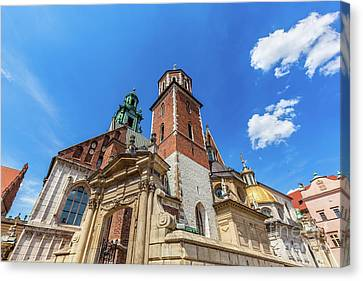 Medieval Temple Canvas Print - Wawel Cathedral, Cracow, Poland. The Royal Archcathedral Basilica by Michal Bednarek