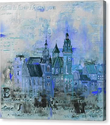 Wawell Castle, Poland Canvas Print by Mawra Tahreem