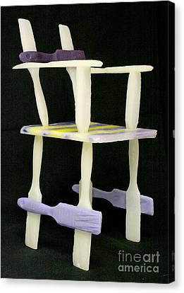 Wax Chair Canvas Print by Karen  Peterson