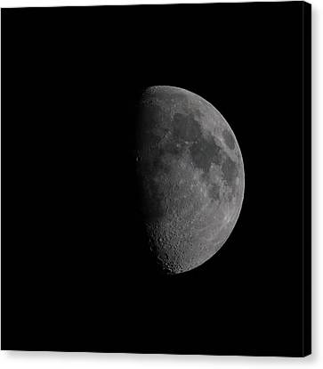 Waxing Gibbous Moon Canvas Print by Ernie Echols
