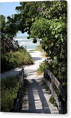 Way To The Beach Canvas Print by Christiane Schulze Art And Photography