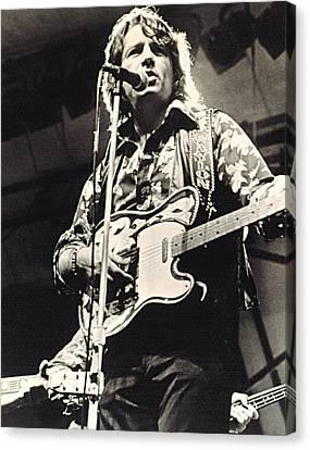 Waylon Jennings In Concert, C. 1974 Canvas Print by Everett