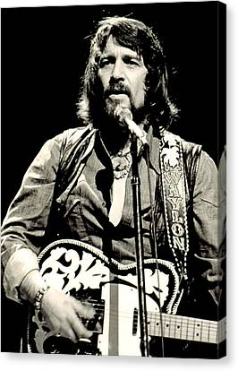 Historical Canvas Print - Waylon Jennings In Concert, C. 1976 by Everett