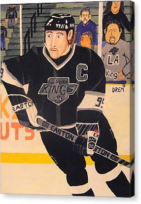 Wayne Gretzky The Great One Canvas Print by David Manicom