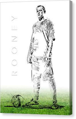Wayne Rooney Canvas Print by ISAW Gallery