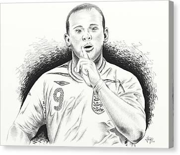 Wayne Rooney With Enggland Canvas Print by Yudiono Putranto