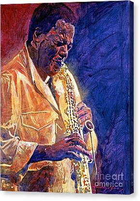 Performers Canvas Print - Wayne Shorter The Message by David Lloyd Glover