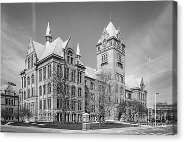 Old Main Canvas Print - Wayne State University Old Main by University Icons