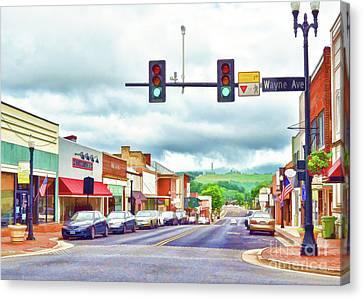 Canvas Print featuring the photograph Waynesboro Virginia - Art Of The Small Town by Kerri Farley