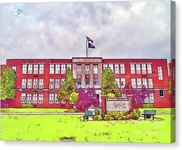 Canvas Print featuring the photograph Waynesboro Virginia High School by Kerri Farley