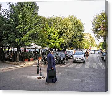 Canvas Print featuring the photograph Ways To Stop Traffic  by Connie Handscomb