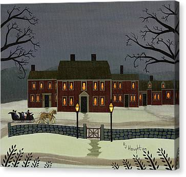 Wayside Winter's Eve Canvas Print by RJ Houghton