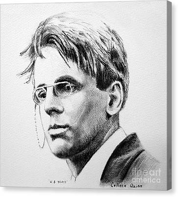 W.b. Yeats Canvas Print by Colleen Quinn