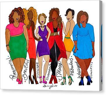 We Are Canvas Print by Diamin Nicole