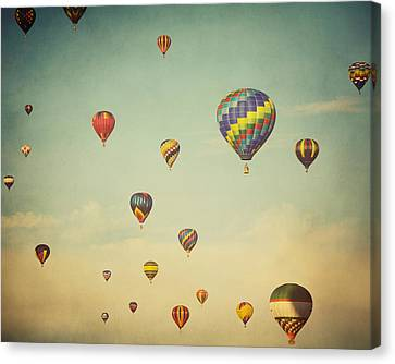 We Are Floating In Space Canvas Print by Irene Suchocki