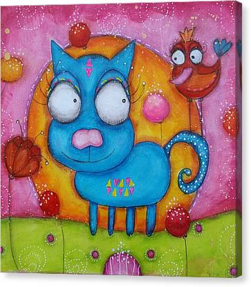 Canvas Print - We Are Friends by Barbara Orenya