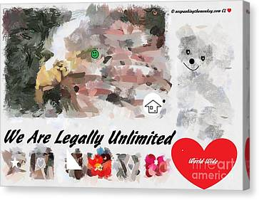 We Are Legally Unlimited World Wide Canvas Print by Catherine Lott