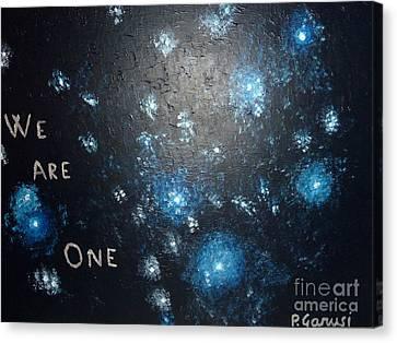 We Are One Canvas Print by Piercarla Garusi