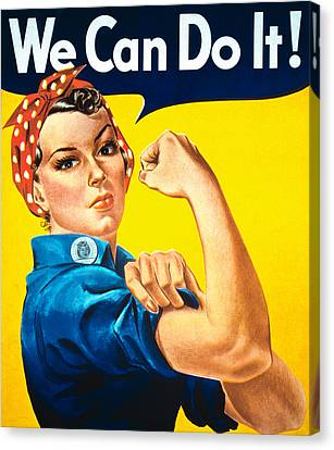 Worker Canvas Print - We Can Do It by American School