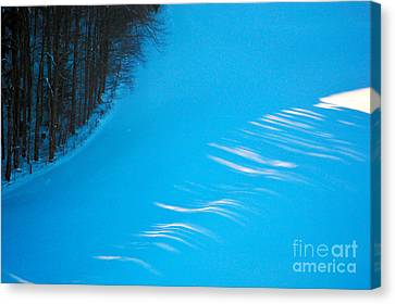 We Got The Blues - Winter In Switzerland Canvas Print