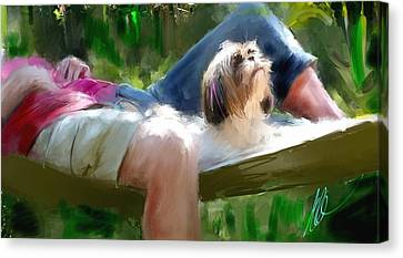 We Love Life Canvas Print