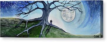 Silver Moonlight Canvas Print - We Made It by Cedar Lee