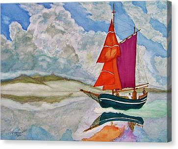 We Sailed Upon A Sea Of Glass Canvas Print