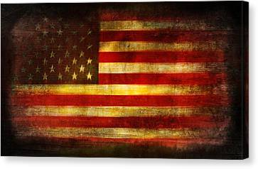 War Torn Flag Canvas Print - We The People by Brett Pfister