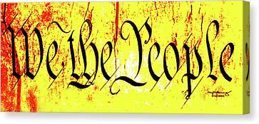 We The People Celebrate A Republic Artist Series Jgibney The Museum Canvas Print by The MUSEUM Artist Series jGibney
