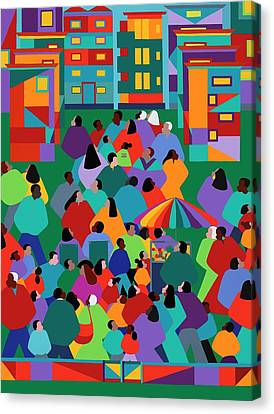Canvas Print - We The People One by Synthia SAINT JAMES