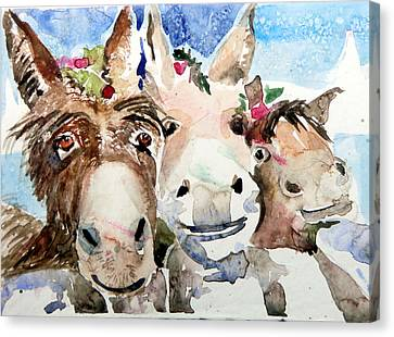 We Three Wise Asses Canvas Print by Mindy Newman