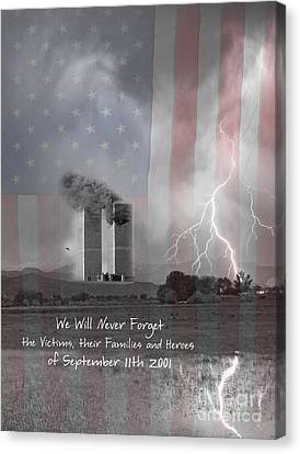 We Will Never Forget  The Victims Their Families And Heroes Canvas Print by James BO  Insogna