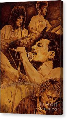 Canvas Print featuring the painting We Will Rock You by Igor Postash