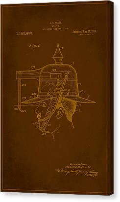 Weapon Patent Drawing 1b Canvas Print by Brian Reaves